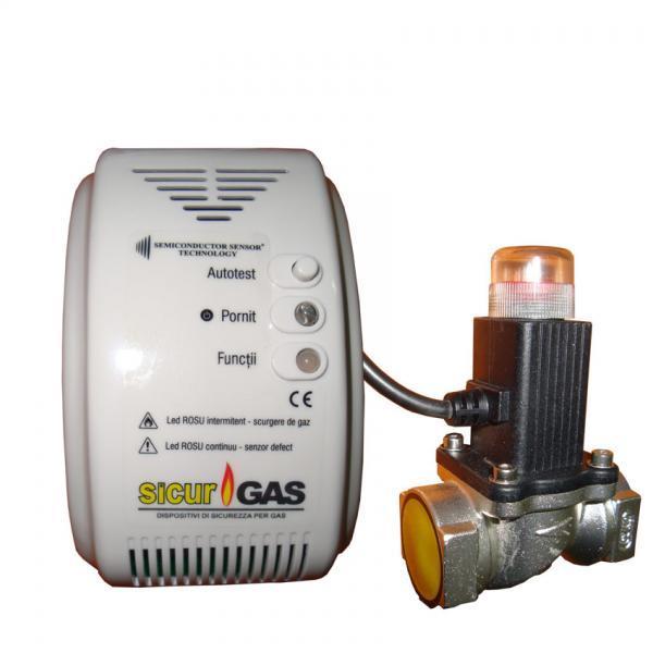 Detector de gaz cu releu
